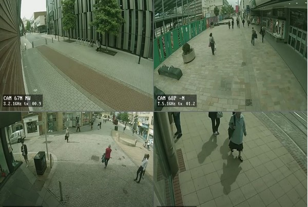 Police CCTV Day Quad Screen 01- 35 sec
