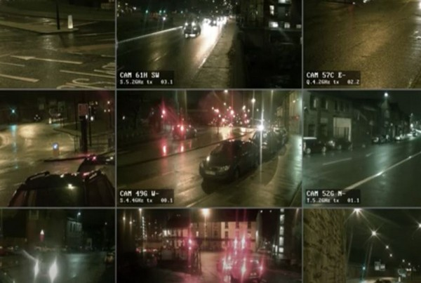Police CCTV Night 9 Screen- 1 minute