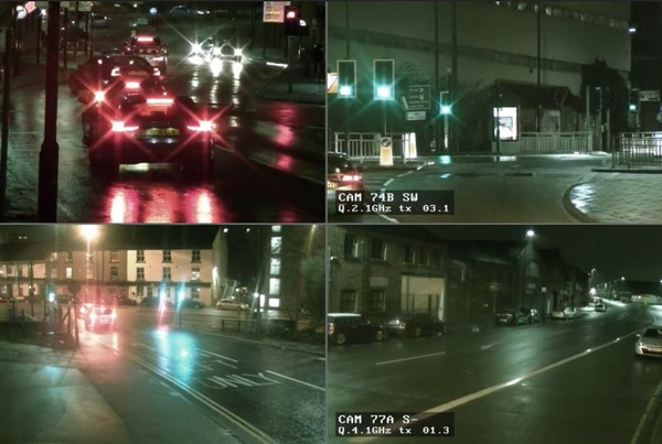 Police CCTV Night Quad Footage 01- 1 min