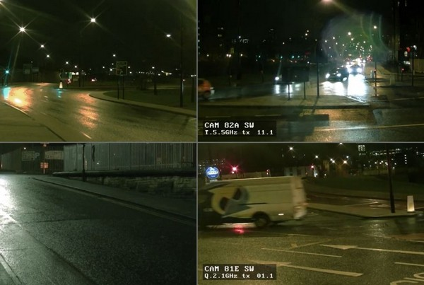 Police CCTV Night Quad Footage 02- 1 min